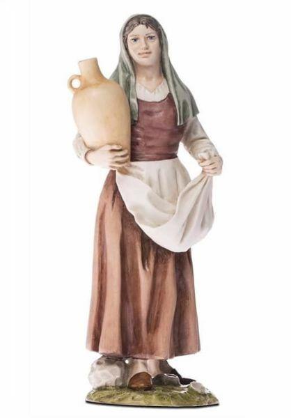 Immagine di Donna con Anfora cm 18 (7,1 inch) Presepe Landi Moranduzzo Statua in resina stile Arabo