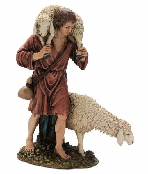 Picture of Good Shepherd cm 20 (7,9 inch) Landi Moranduzzo Nativity Scene resin Statue Arabic style