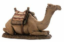 Immagine di Cammello cm 20 (7,9 inch) Presepe Landi Moranduzzo Statua in resina stile Arabo