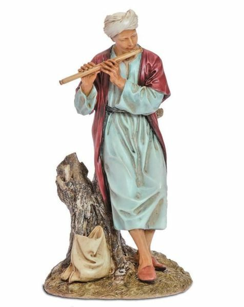 Imagen de Flautista oriental cm 20 (7,9 inch) Belén Landi Moranduzzo Estatua de resina estilo árabe