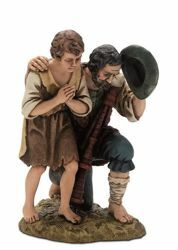 Picture of 2 Shepherds Set cm 20 (7,9 inch) Landi Moranduzzo Nativity Scene resin Statues Arabic style