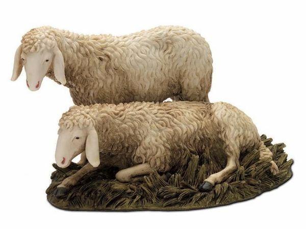 Picture of 2 Sheep Set cm 20 (7,9 inch) Landi Moranduzzo Nativity Scene resin Statues Arabic style