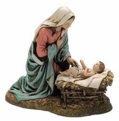 Picture of Madonna and Child cm 20 (7,9 inch) Landi Moranduzzo Nativity Scene resin Statue Arabic style