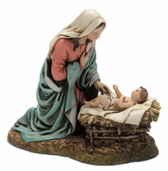 Imagen de Virgen con el Niño cm 20 (7,9 inch) Belén Landi Moranduzzo Estatua de resina estilo árabe
