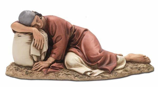 Immagine di Pastore dormiente cm 20 (7,9 inch) Presepe Landi Moranduzzo Statua in resina stile Arabo