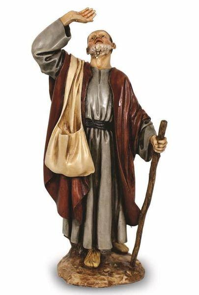 Imagen de Pastor asombrado cm 20 (7,9 inch) Belén Landi Moranduzzo Estatua de resina estilo árabe