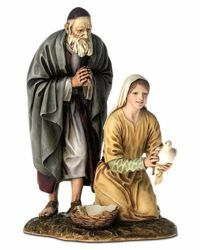 Picture of Elderly Man and Girl cm 20 (7,9 inch) Landi Moranduzzo Nativity Scene resin Statue Arabic style