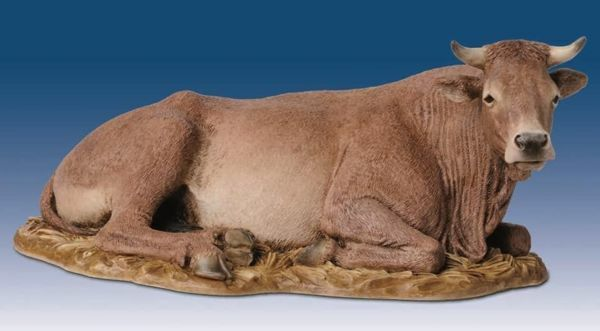 Imagen de Buey cm 30 (11,8 inch) Belén Landi Moranduzzo Estatua de resina estilo árabe