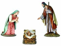 Picture of Holy Family Set 3 pieces cm 30 (11,8 inch) Landi Moranduzzo Nativity Scene resin Statues Arabic style