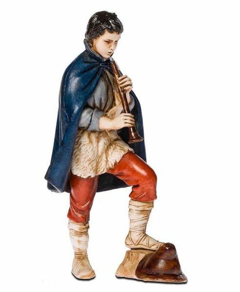 Immagine di Pifferaio cm 11 (4 inch) Presepe Landi Moranduzzo Statua in plastica PVC stile Napoletano