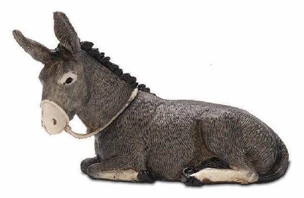 Picture of Donkey cm 13 (5,1 inch) Landi Moranduzzo Nativity Scene plastic PVC Statue Arabic style