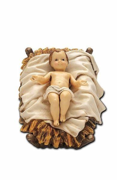 Immagine di Gesù Bambino cm 13 (5,1 inch) Presepe Landi Moranduzzo Statua in plastica PVC stile Arabo
