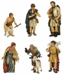 Picture of 6 Shepherds Set cm 13 (5,1 inch) Landi Moranduzzo Nativity Scene plastic PVC Statues Arabic style