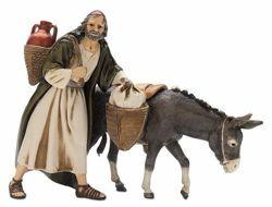 Picture of Wayfarer with Donkey cm 13 (5,1 inch) Landi Moranduzzo Nativity Scene plastic PVC Statue Arabic style