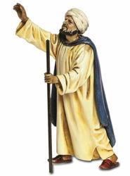 Immagine di Pastore orientale in cammino cm 13 (5,1 inch) Presepe Landi Moranduzzo Statua in plastica PVC stile Arabo