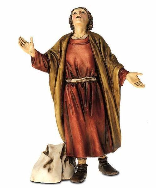Immagine di Pastore meravigliato cm 13 (5,1 inch) Presepe Landi Moranduzzo Statua in plastica PVC stile Arabo
