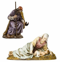 Picture of Holy Family Set 3 pieces Lying Mary cm 13 (5,1 inch) Landi Moranduzzo Nativity Scene plastic PVC Statues Arabic style
