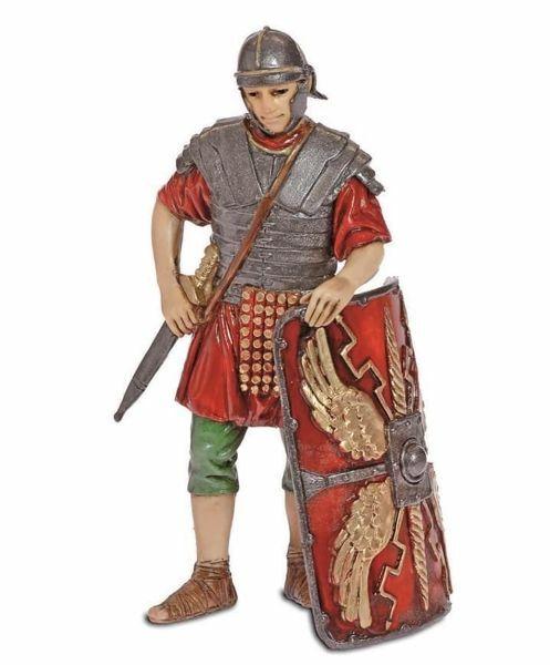 Imagen de Soldado romano con Escudo cm 13 (5,1 inch) Belén Landi Moranduzzo Estatua de plástico PVC estilo árabe