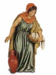 Picture of Woman with Amphora cm 13 (5,1 inch) Landi Moranduzzo Nativity Scene plastic PVC Statue Arabic style