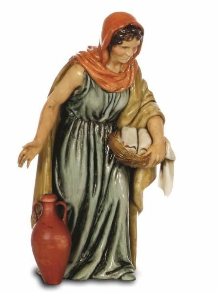 Immagine di Donna con Anfora cm 13 (5,1 inch) Presepe Landi Moranduzzo Statua in plastica PVC stile Arabo