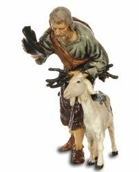 Picture of Elderly Man with Goat cm 13 (5,1 inch) Landi Moranduzzo Nativity Scene plastic PVC Statue Arabic style
