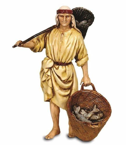 Immagine di Pescatore cm 13 (5,1 inch) Presepe Landi Moranduzzo Statua in plastica PVC stile Arabo