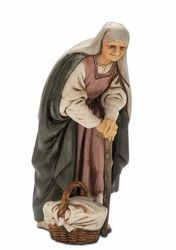 Picture of Old Woman with Stick cm 13 (5,1 inch) Landi Moranduzzo Nativity Scene plastic PVC Statue Arabic style