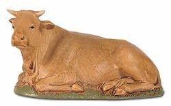 Picture of Ox cm 12 (4,7 inch) Landi Moranduzzo Nativity Scene plastic PVC Statue Neapolitan style