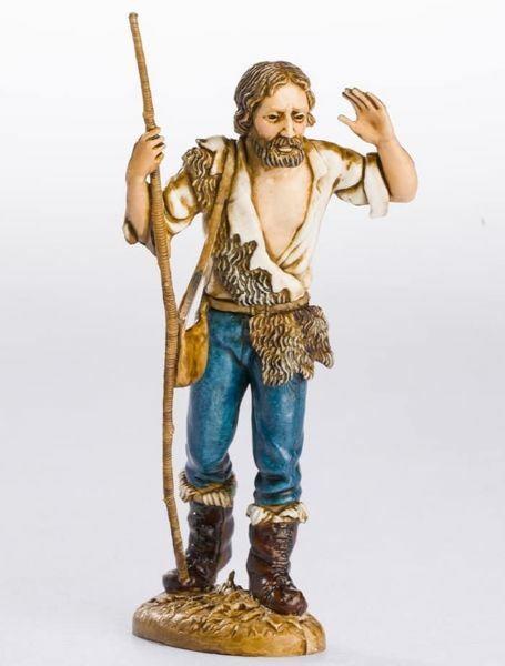 Picture of Shepherd with Stick cm 12 (4,7 inch) Landi Moranduzzo Nativity Scene plastic PVC Statue Neapolitan style