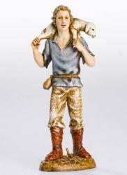 Imagen de Buen pastor cm 12 (4,7 inch) Belén Landi Moranduzzo Estatua de plástico PVC estilo Napolitano
