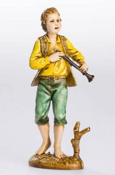 Imagen de Pastor con Flauta cm 12 (4,7 inch) Belén Landi Moranduzzo Estatua de plástico PVC estilo Napolitano