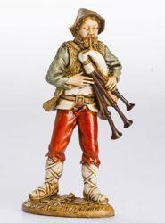 Immagine di Zampognaro cm 12 (4,7 inch) Presepe Landi Moranduzzo Statua in plastica PVC stile Napoletano