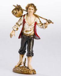 Immagine di Viandante cm 12 (4,7 inch) Presepe Landi Moranduzzo Statua in plastica PVC stile Napoletano