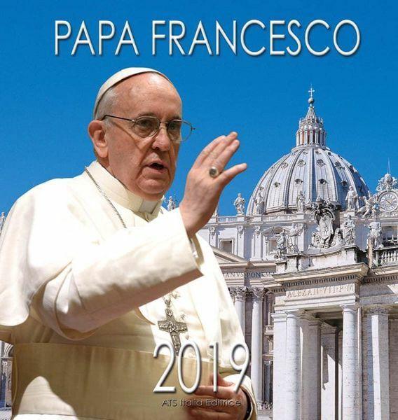 Immagine di Papa Francisco (2) Calendario de pared 2019 cm 32x34 (12,6x13,4 in)
