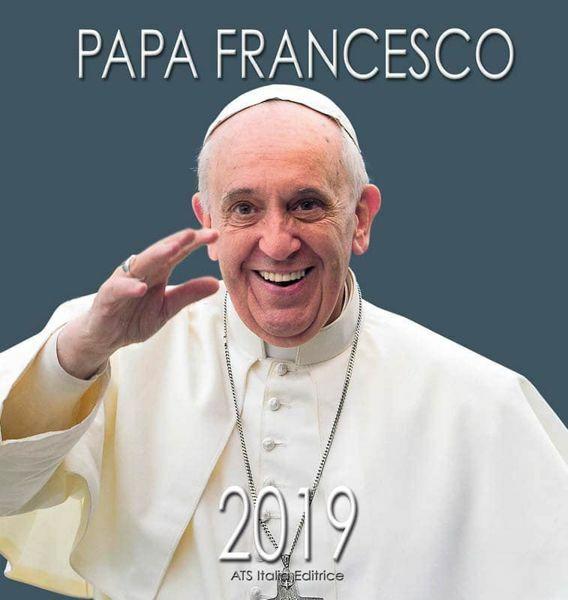 Immagine di Papa Francisco (3) Calendario de pared 2019 cm 32x34 (12,6x13,4 in)