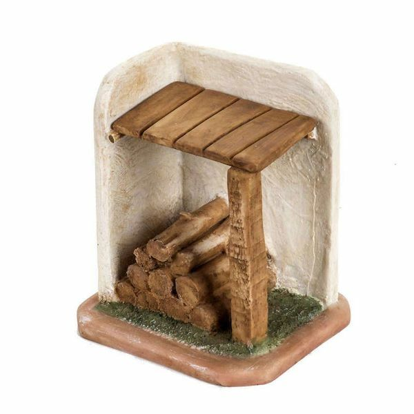 Picture of Woodshed cm 12 (5 Inch) Fontanini Nativity Village in Wood, Cork, Fabric - handmade