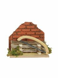 Picture of Sawmill cm 12 (5 Inch) Fontanini Nativity Village in Wood, Cork, Moss - handmade