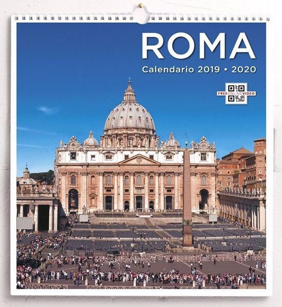 Picture of St. Peter Rome 2019/2020 wall Calendar cm 31x33 (12,2x13 in) 24 months