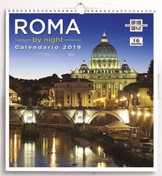 Picture of Calendario da muro 2019 Roma San Pietro by night cm 31x33 16 mesi