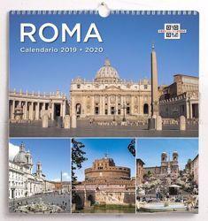 Imagen de Calendario da muro 2019/2020 Roma cm 31x33 24 mesi