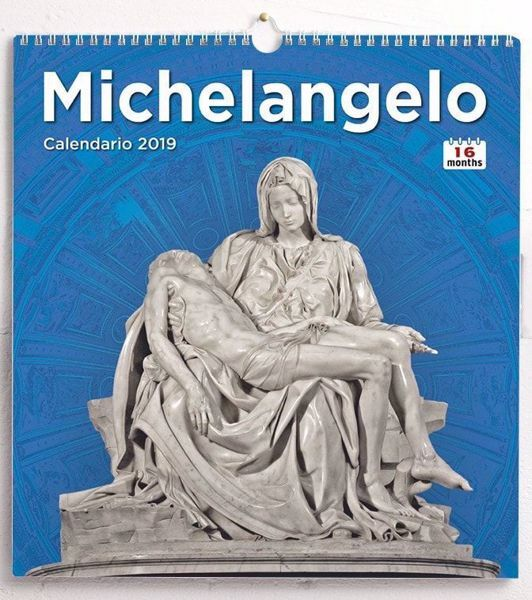 Imagen de Calendario da muro 2018/2019 Michelangelo cm 31x33 16 mesi