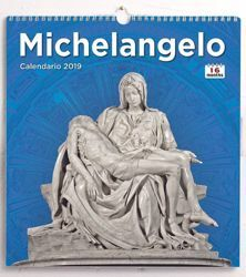 Immagine di Michelangelo 2018/2019 wall Calendar cm 31x33 (12,2x13 in) 16 months