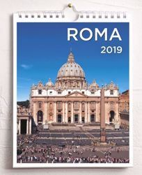 Immagine di Rome St. Peter 2019 wall and desk calendar cm 16,5x21 (6,5x8,3 in)