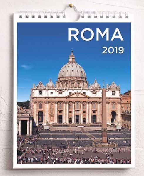 Picture of Rome St. Peter 2019 wall and desk calendar cm 16,5x21 (6,5x8,3 in)
