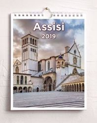 Immagine di Assisi 2019 wall and desk calendar cm 16,5x21 (6,5x8,3 in)