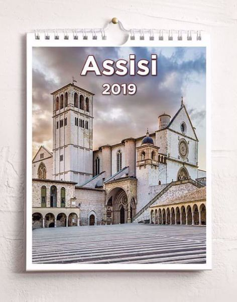 Picture of Assisi 2019 wall and desk calendar cm 16,5x21 (6,5x8,3 in)