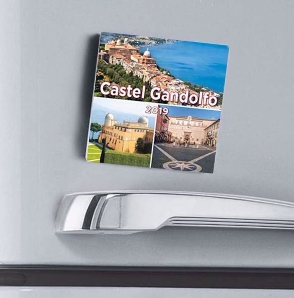 Picture of Castel Gandolfo Popes' residence 2019 magnetic calendar cm 8x8 (3,1x3,1 in)