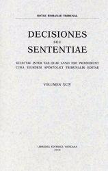 Picture of Decisiones Seu Sententiae Anno 2001 Vol. XCII 92