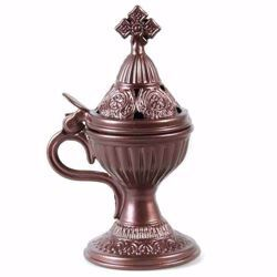 Picture of Liturgical Censer diam. cm 7,5 (3 inch) antique gold color with lid grain incense burner