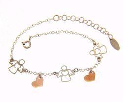 Picture of Bracelet Silver 925 Angel with Heart and Charms gr.2,00 for Woman and Girl